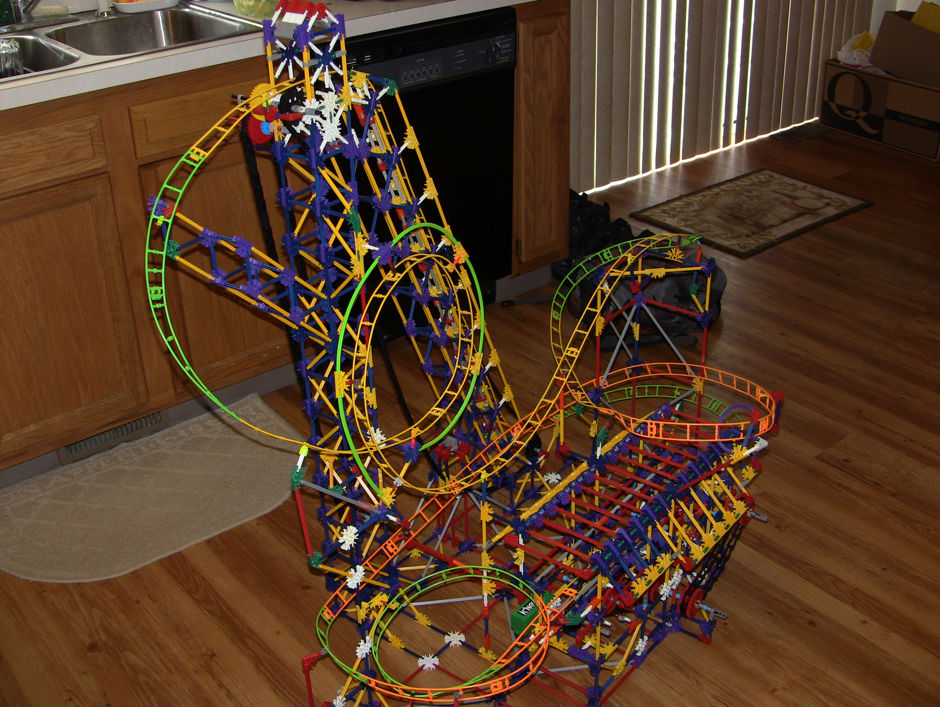 Knex Neon Lightning Coaster Instructions And Video( With New Motor-Less Tire-drive)