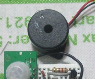 Simple Burglar Alarm Using PIR Sensor