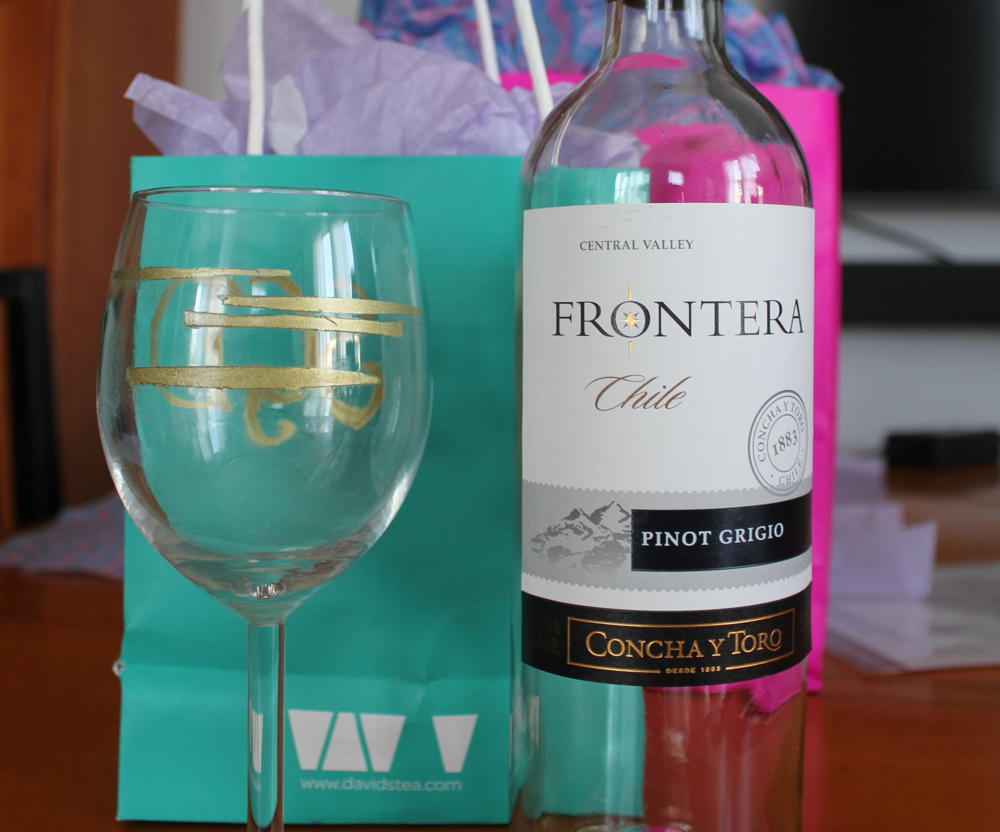 DIY Tuned and Monogrammed Wine Glass