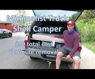 DIY Cheap Minimalist Truck Shell Camper Bed Platform