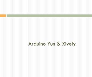 Arduino Yun & Xively (web)