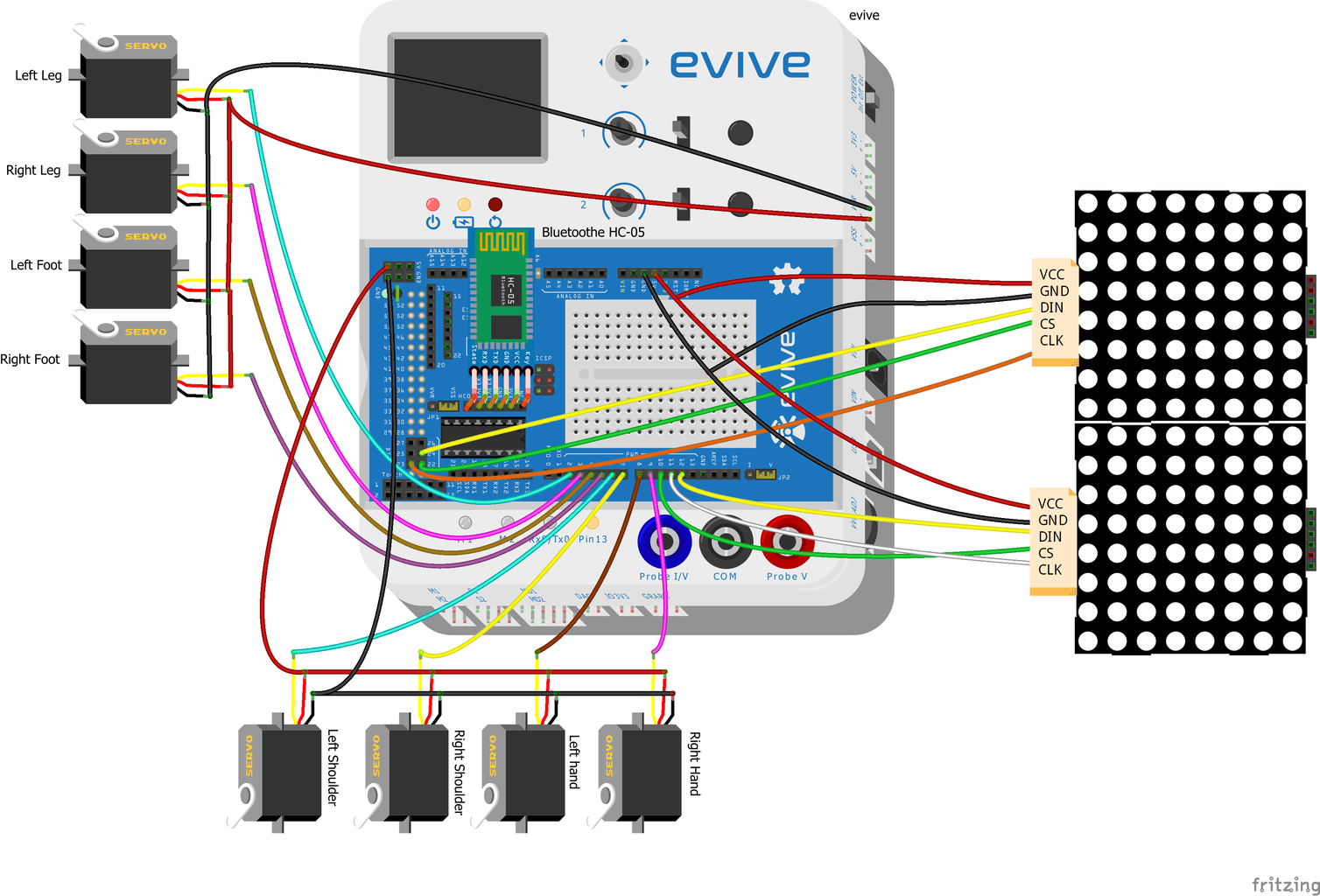 Connecting the Servos