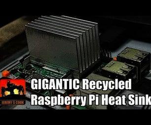 Recycled Raspberry Pi Heat Sink