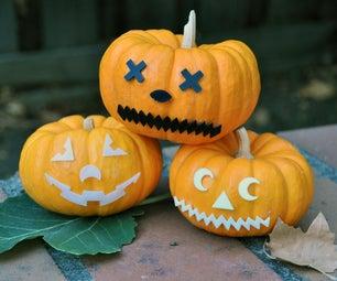 3D Print Jack-o-Lantern Face Pieces - Mr. Pumpkin Head