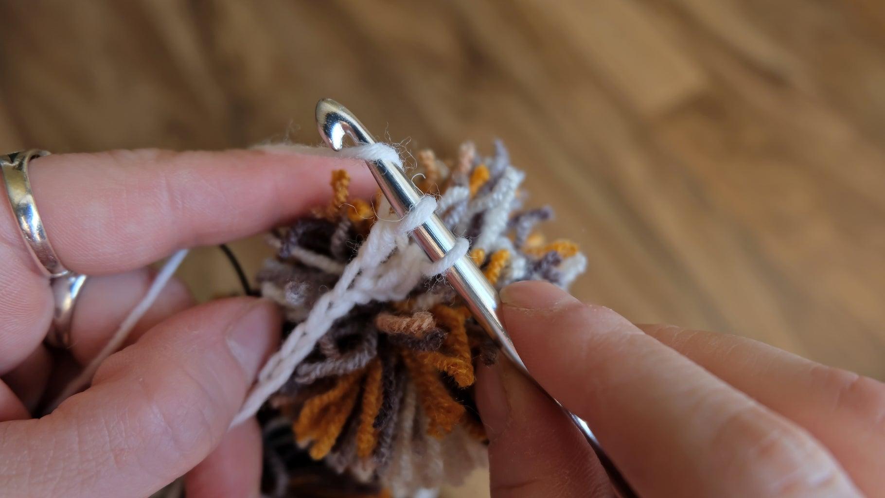 Crocheting. Сolumns With a Crochet