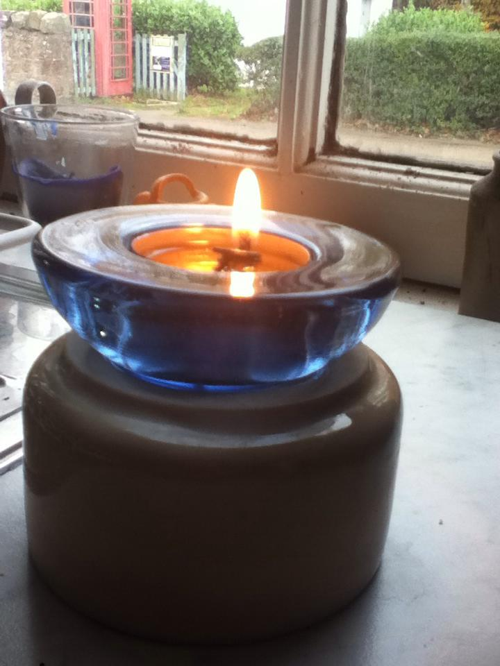 Making waxed candle wick.