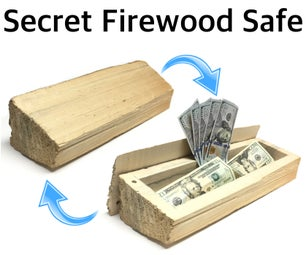 Super Secret Safe Made From Firewood