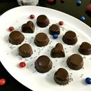 Homemade Coffee Cream and Peanut Butter Filled Chocolates