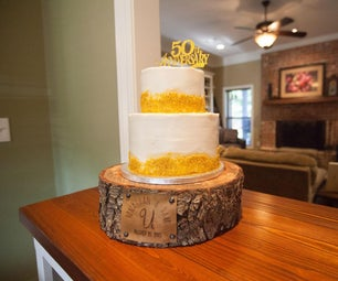 DIY Cake Stand for a Wedding