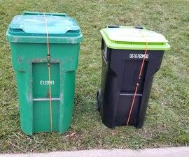 Wind Proof Your Trash Bins