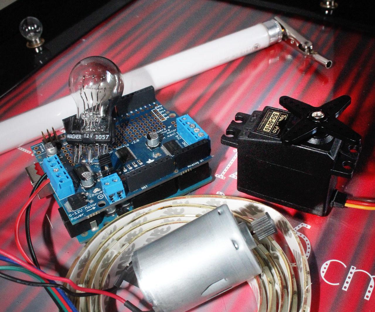 Control Mix of 12v Lights & Motors