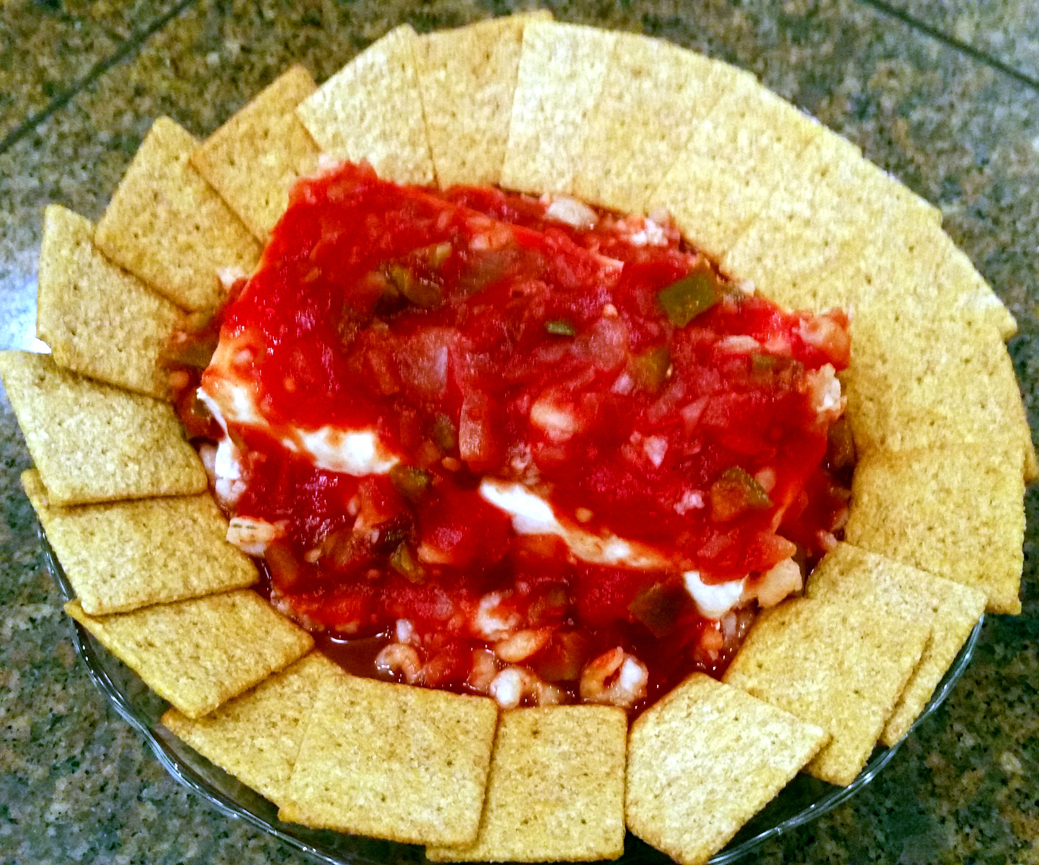Salsa & Shrimp Cream Cheese Dip