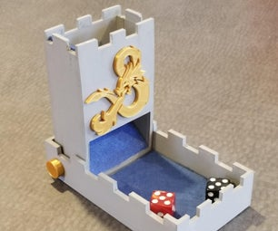 3d Printed Folding Castle Dice Tower With Tinkercad