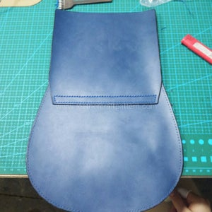 Sew Flap and Back Together.
