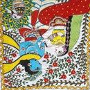 Radha Krishna in Madhubani Art Form