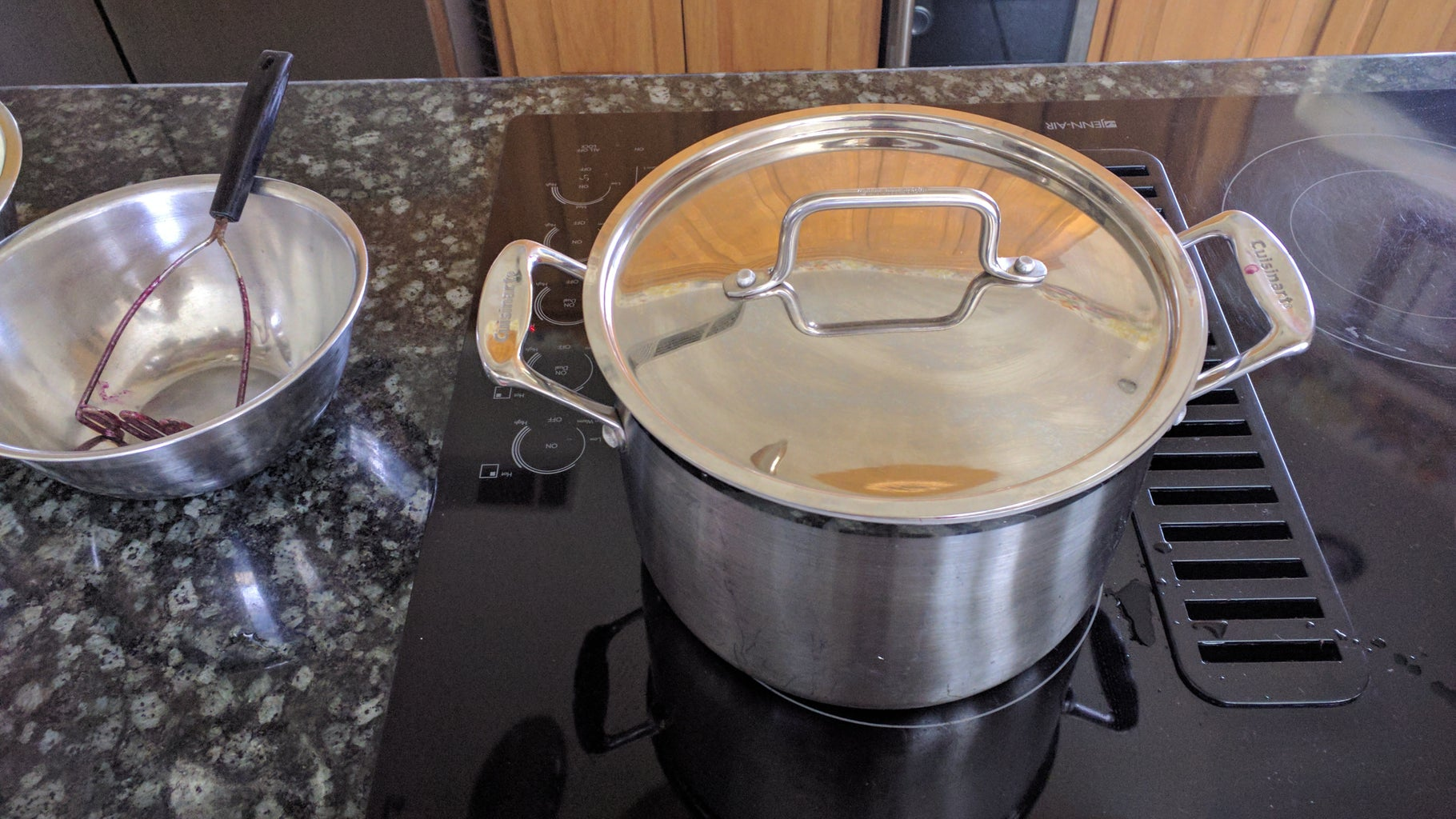 Boiling and Mashing the Grapes