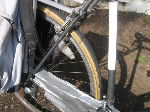 Recycled Bike Tire As Fender