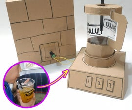 Plastic Cup Into Blender With Cardboard