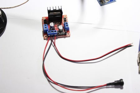 DC Power Jack and L298N 5V Output