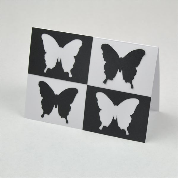 Andy Warhol Style Butterfly Card