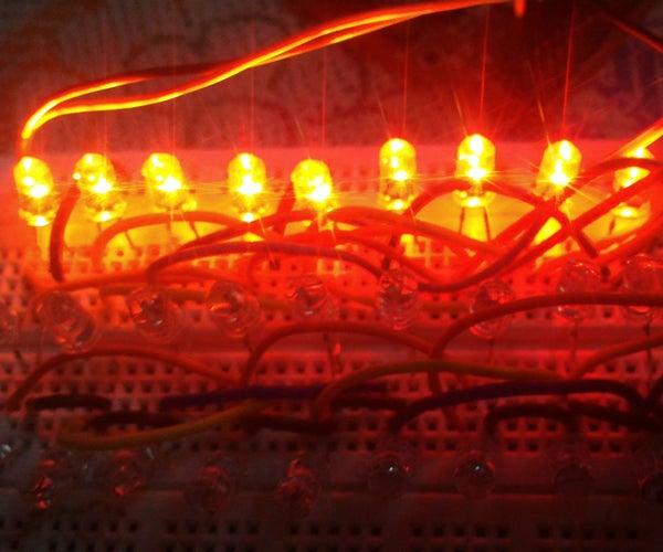 LED Lighting on Breadboard
