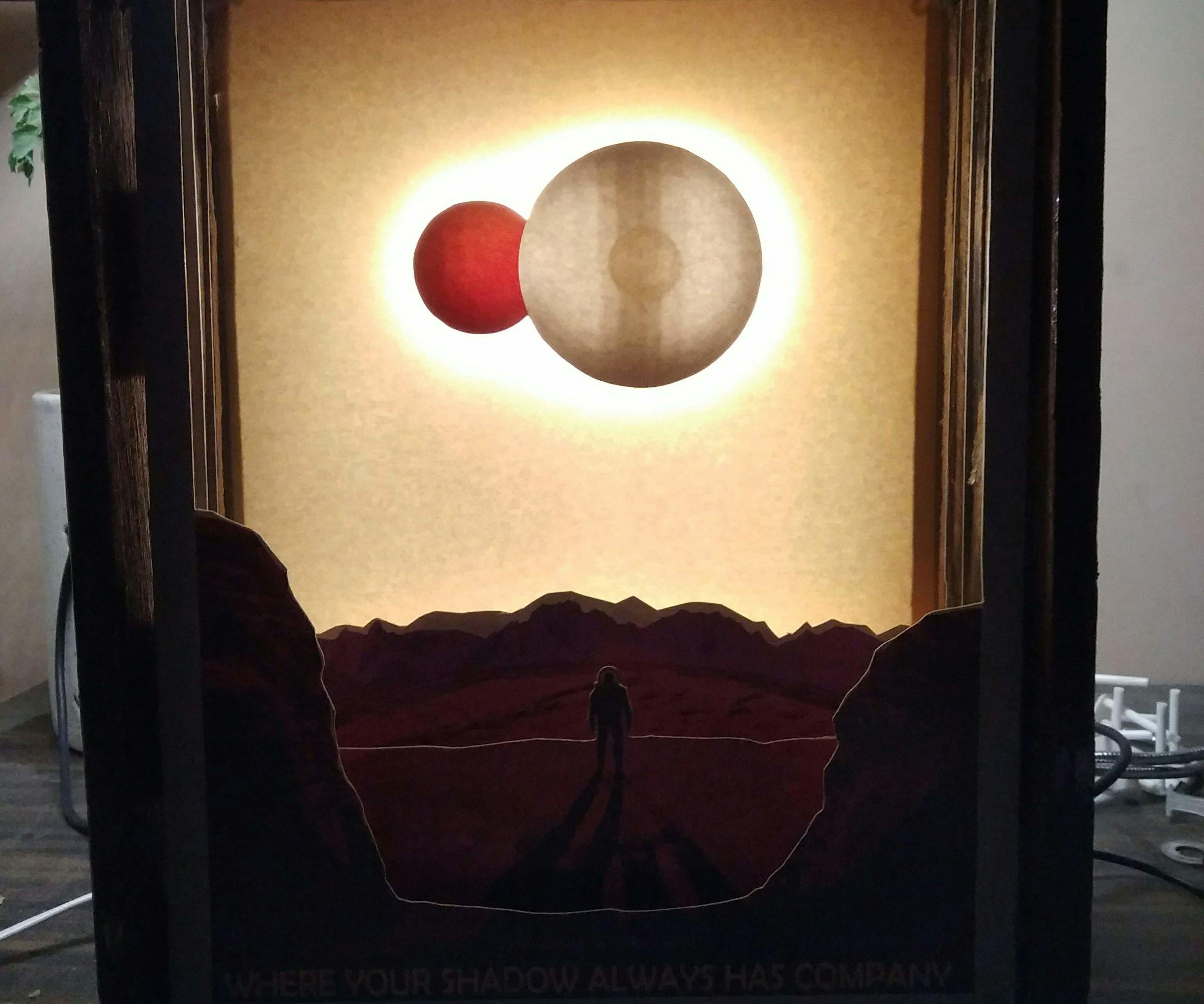 Kepler 16b NASA Poster Lightbox Lamp