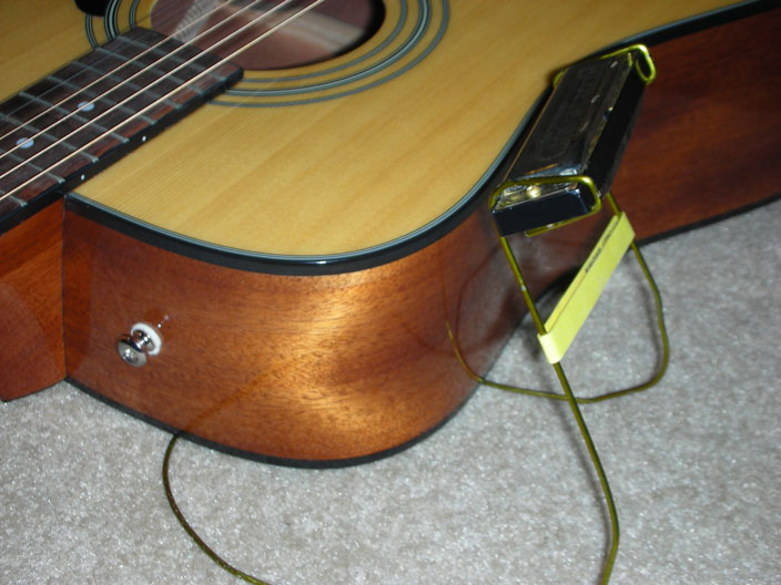 Clothes Hanger Harmonica Holder