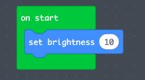 Set the LED Brightness