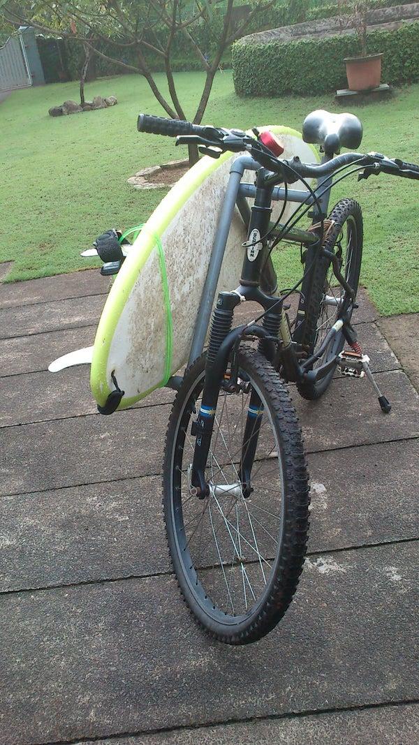 The Removable PVC Tubing Bike Surfrack