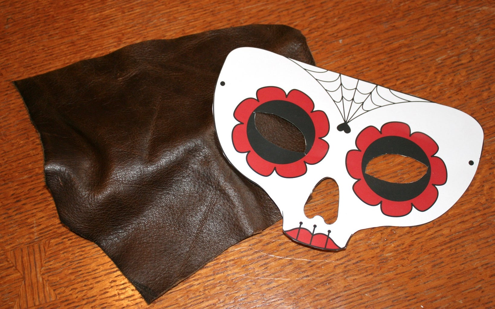 Cut Out Template and Mark Leather