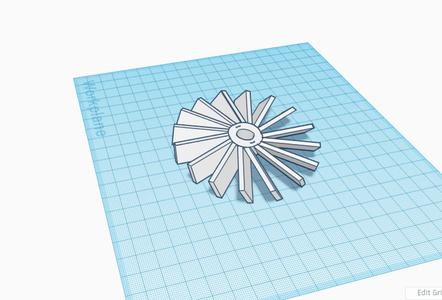 Making the Turbine/fans and the Shaft