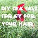 Diy Sea Salt Spray For Beachy, Texturized Hair
