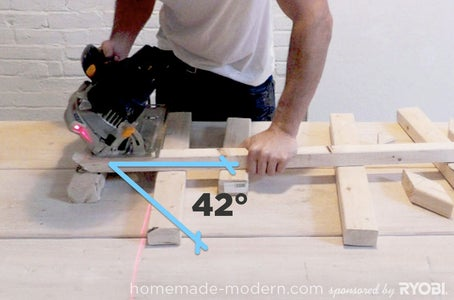 Measure and Cut the Angled Blocks