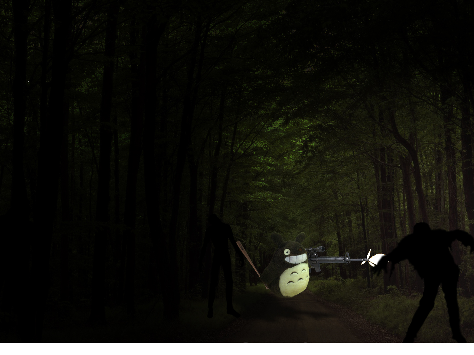 How to make an awesome zombie-fighting scene in Photoshop