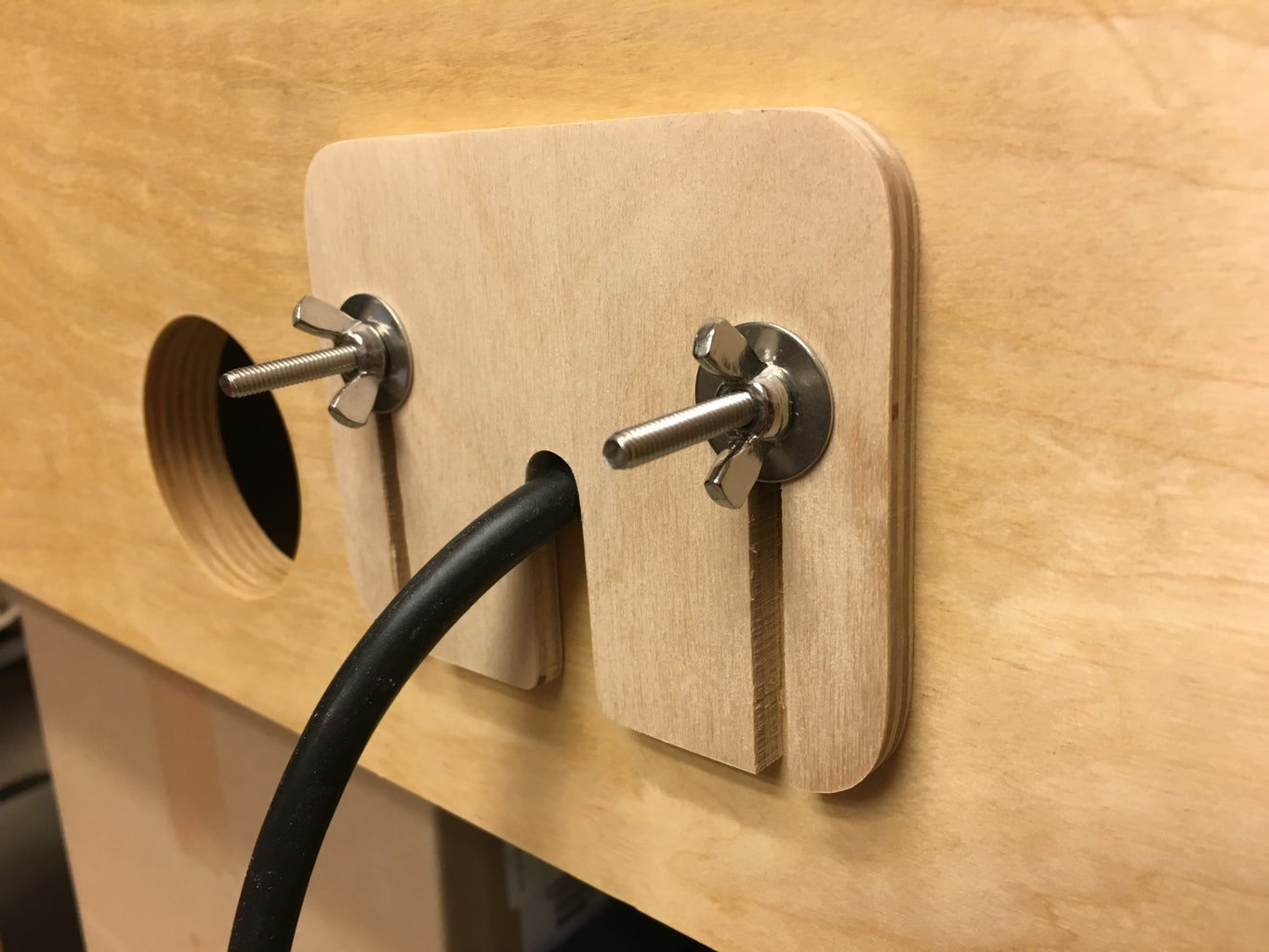 Add a Power Cord Opening
