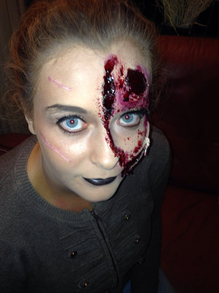 Putting on the Make-up and Making a Bloody Mess