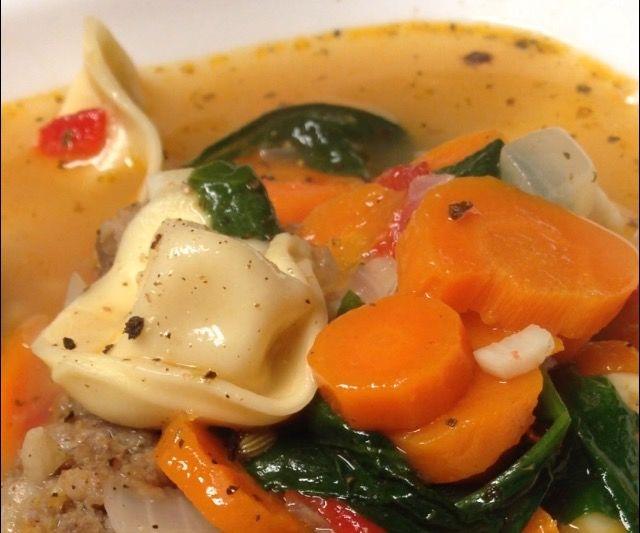 Meatball and CheeseTortellini Soup