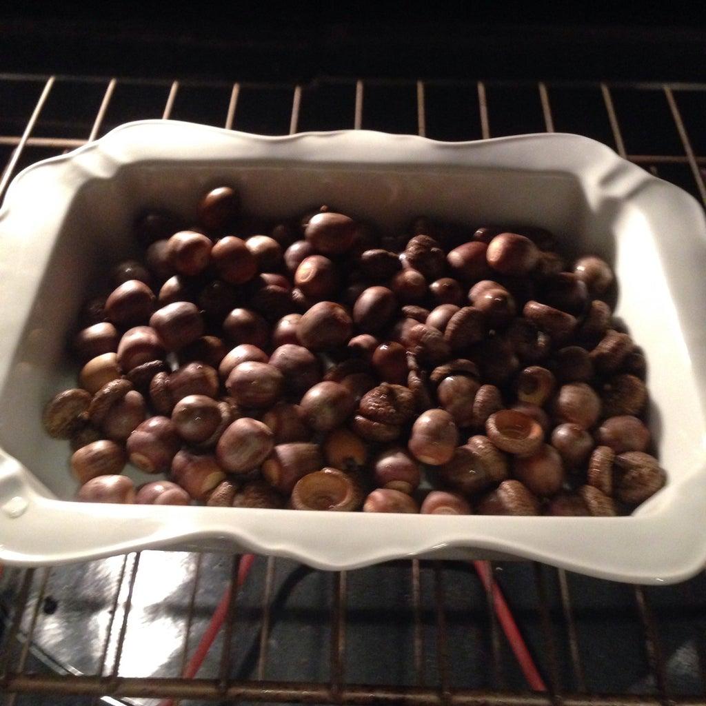 Bake Acorns and Fill Jar