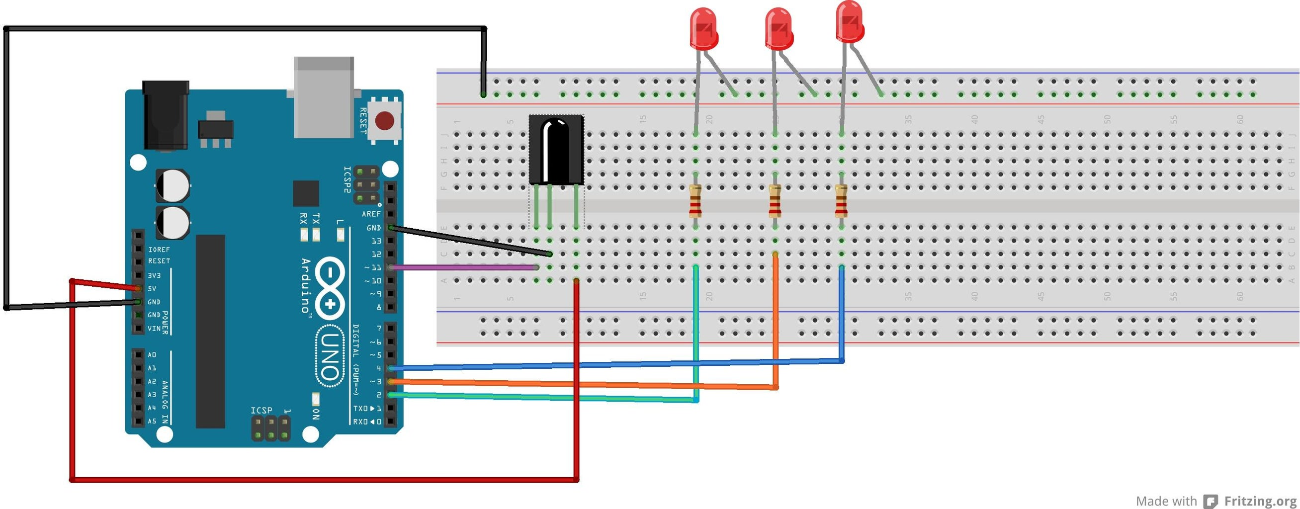 Complete the New Circuit to Light Up LED S