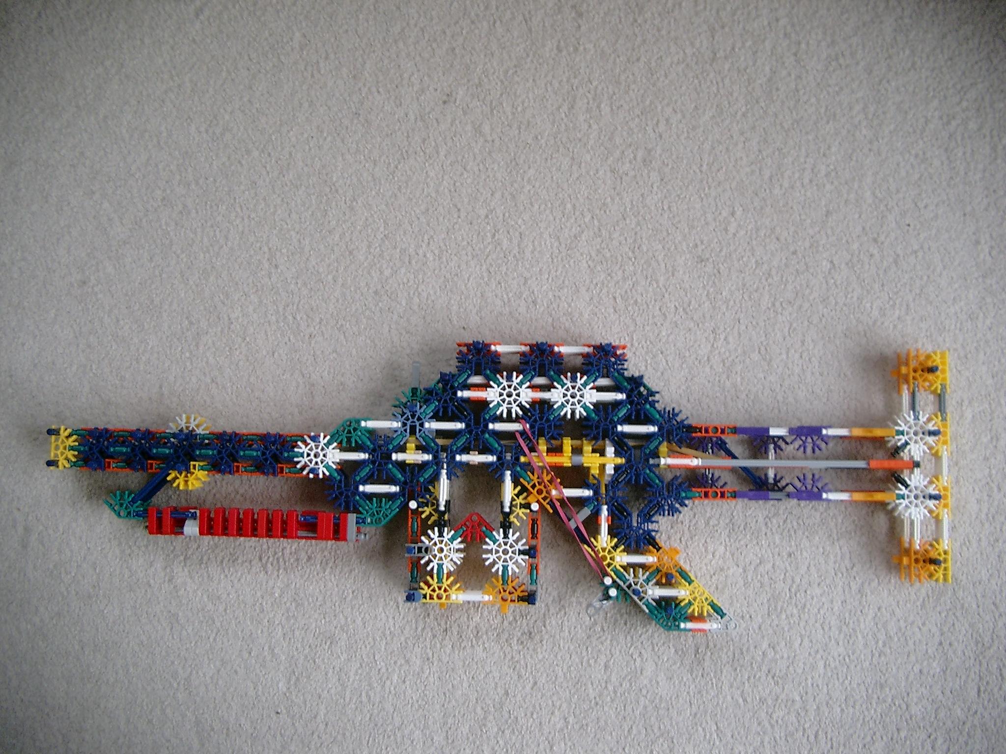 The storm 220 V1.7 knex bolt action rifle.