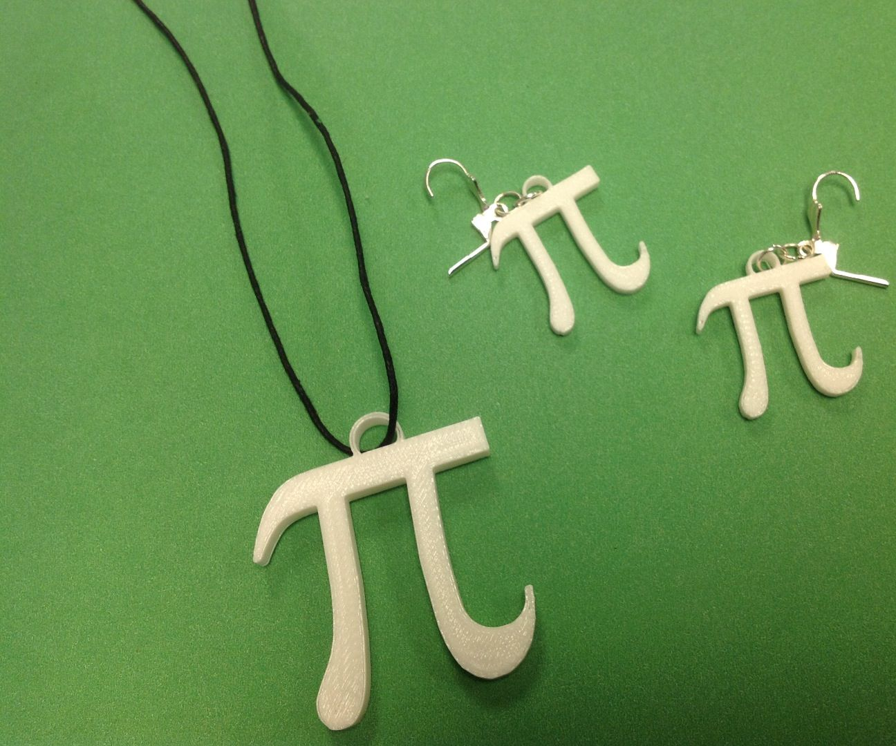 Pi Necklace and Earrings