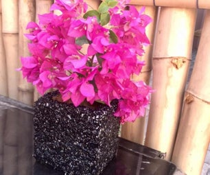 米纹理方形花瓶/播种机