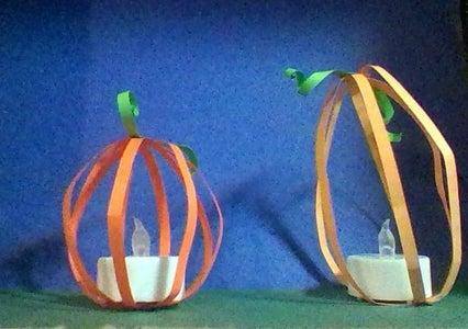 Easy Paper Pumpkins