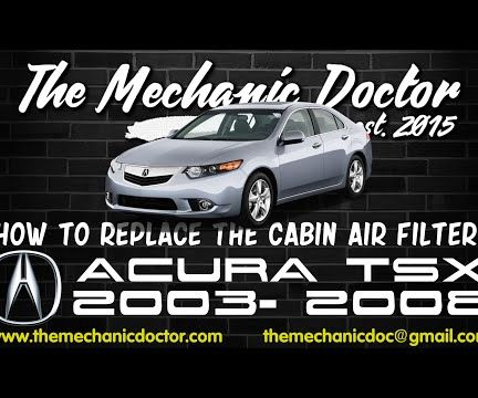 How to replace the cabin air filter: Acura TSX 2003, 2008