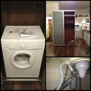 Installing washing machine in wardrobe