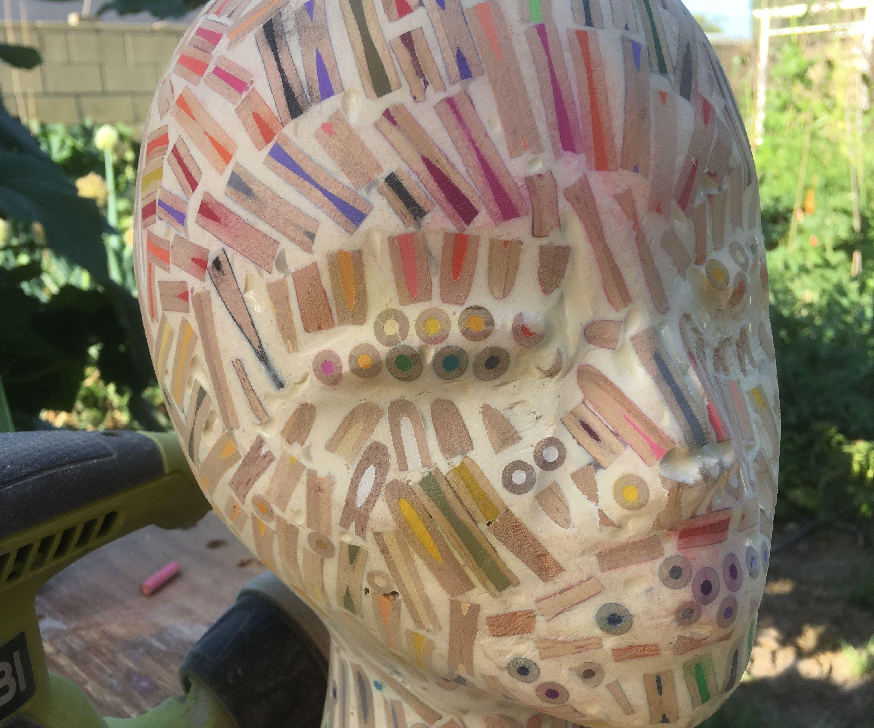 Colored Pencil Mannequin