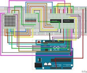Dot Matrix LED Display Using Arduino Uno R3