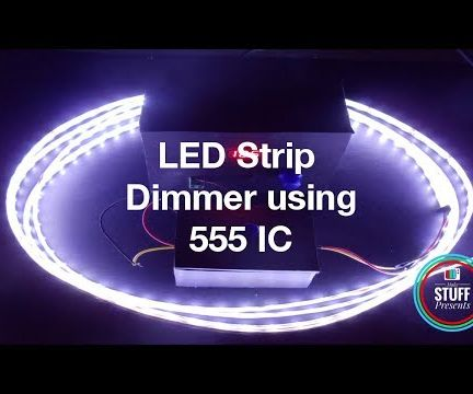Simple & Easy Dimmer Circuit Using 555 IC for LED Strip Lights