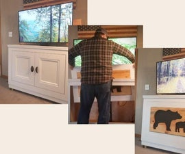 How to Build a DIY TV Lift Cabinet