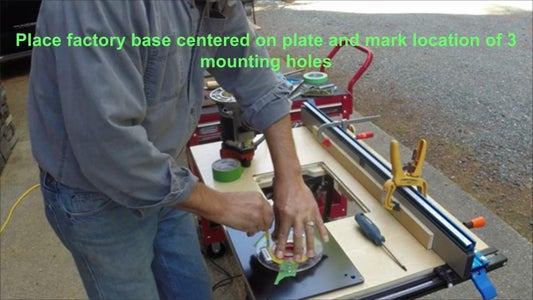 Mount the Insert Onto Your Router.